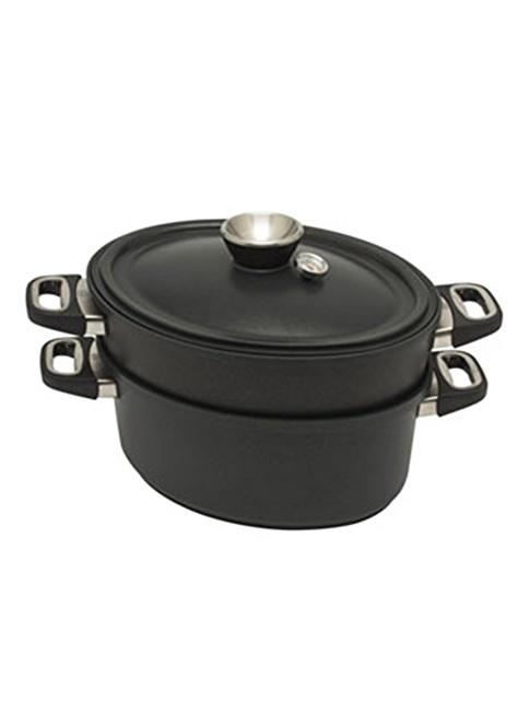 Amt Gastroguss Susuz Pişirme Seti İndüksiyonlu Siyah